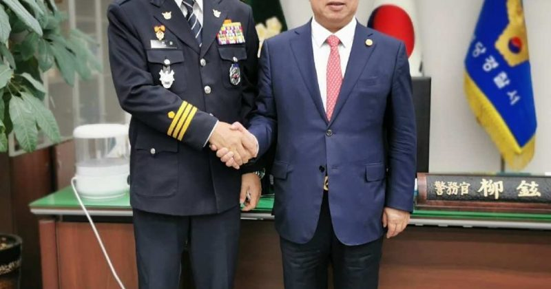 The president of WUAVF conducted exchanges with senior police officer General Liu Wei